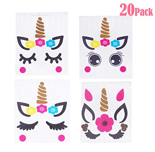Joy Uinan Make A Unicorn Stickers Unicorn Party Favors 20-Pack Fun Craft Project Unicorn Party Supplies for Kid Birthday]()