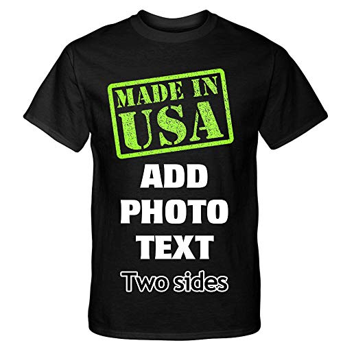 - 2 Sides Digital Printing T-Shirt Personalized Custom Your Own Design - Made in USA
