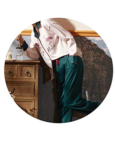 Sezione Casa Donna E Abbigliamento In Sottile Da La Donna Pigiama Maniche Da Pu Maniche Lunghe Cotone Lunghe A Sleepsuits Da Autunnale HO1wqna