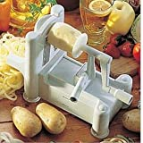 Spiral 3-Blade Vegetable Slicer Stainless Steel New Design Spiralizer for Shredder Chipper and Straight Best Veggie Pasta Spaghetti Maker Low Carb/Paleo/Gluten-Free Meals