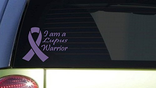 Lupus Warrior  I403  6X7 5 Inch Sticker Decal Purple Awareness Cure