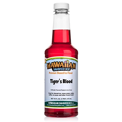 - Hawaiian Shaved Ice Syrup, Tiger's Blood, Pint