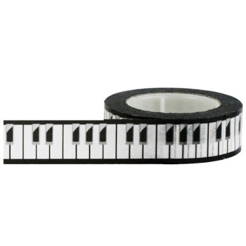 Price comparison product image Little B 100038 Decorative Paper Tape, Piano Keys