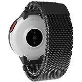 SIKAI Bracelets pour Amazfit Verge Milanese Loop Watch Band Stainless Steel Magnetic Closure Bracelet Strap Bracelets de Remplacement pour Xiaomi Huami Amazfit 3 Smartwatch (Noir)