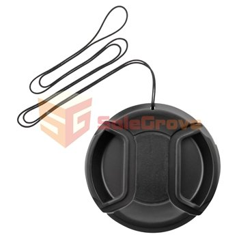 58mm Snap-on Front Lens Cap For Canon (Black)- - 9