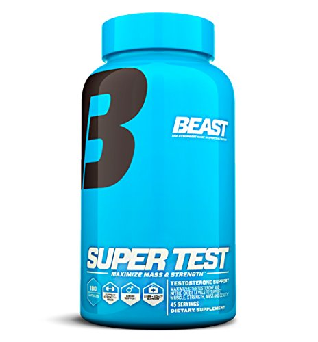 Beast Sports Nutrition SuperTest Professional Strength Complex -- 180 Capsules (Quantity of 1)