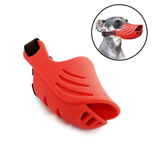 ECtENX Dog Muzzle, Silicone Mouth Cover, Comfortable Secure Fit, Anti-Biting Barking Pet Muzzles for Small Dog Corgi Dachshund Shih Tzu Teddy