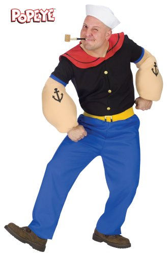 Popeye Adult Costume - -