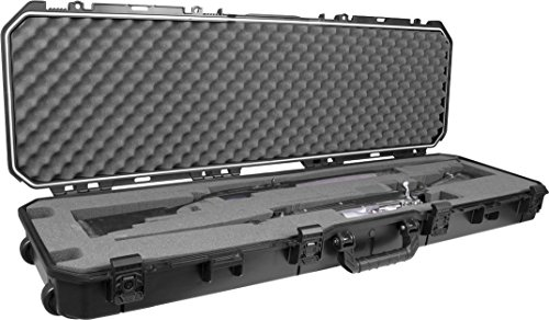 Plano PLA11852 All Weather Case, Doublex 40mm Rifle/Shotgun, Black, 52
