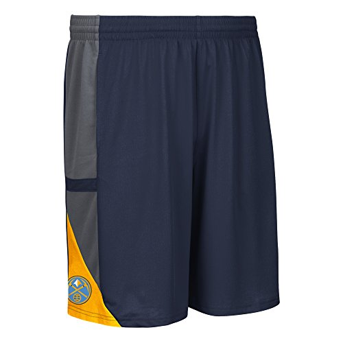 fan products of NBA Denver Nuggets Men's Tip-Off Mesh Shorts, Large, Navy