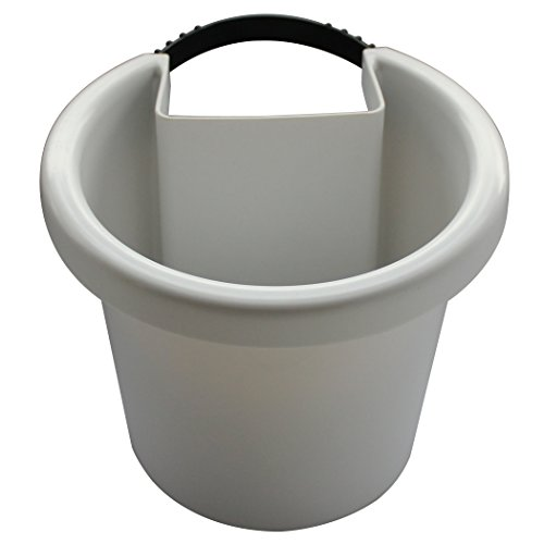 White Hugger Pot – Hanging Planter ATTACHES to RAIN Pipe and Turns it into a Vertical Garden Fastening Strap Included, Approx 7 w x 6 h x 7 d