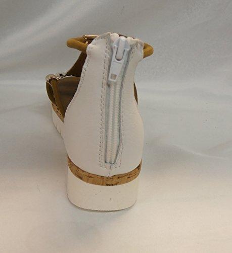 Inuovo sandalo articolo 7903 black pelle bianca