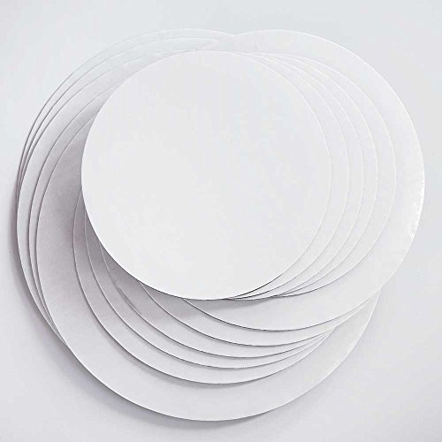 """Cake Board Circles - Grease Proof 12"""", 10"""", 8"""" Round Variety"""