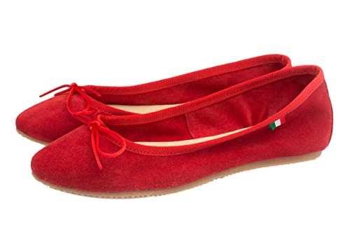Silfer Shoes , Damen Ballerinas Rot Rosso