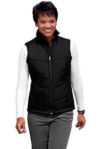 Authority Womens Port Vest (Port Authority Women's Puffy Vest L Black/Black)