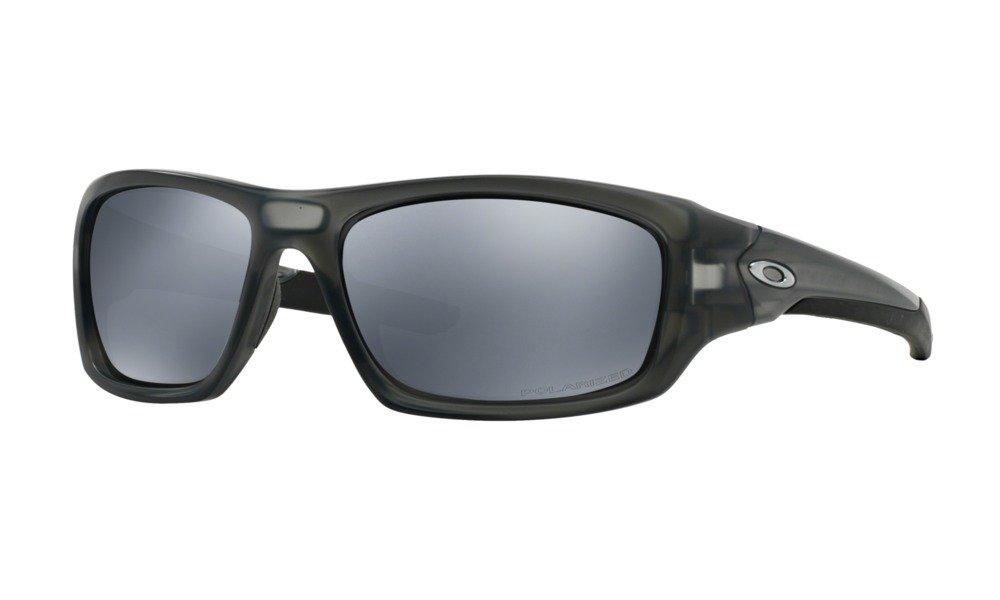Oakley Valve Polarized Iridium Rectangular Sunglasses,Matte Grey Smoke,60 mm
