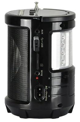 QFX R-60USR FM Radio Built-In LED Flashlight from Qfxa1