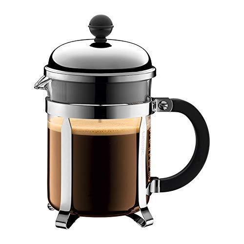 Guanxue Cafetera De émbolo Filtro hogar Café Press Pot 500 ml de Mano de Acero Inoxidable Prensa Cafetera Resistente al…