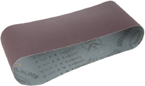 Hitachi 995567 4-Inch by 24-Inch Sanding Belt with CC60 Grit for SB10T, 10-Pack