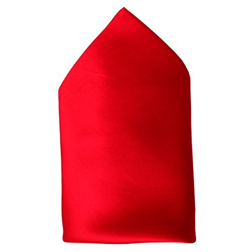 Fine Red Silk Twill Pocket Square by ROYAL SILK - Full 17