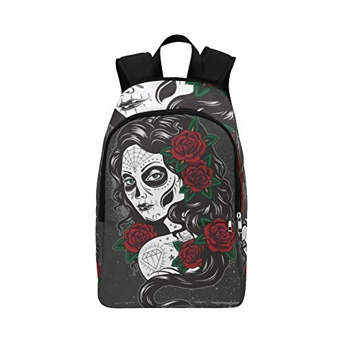 Day Dead Girl Casual Daypack Travel Bag College School Backpack for Mens and Women -