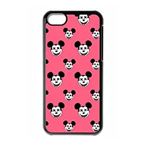 Durable Rubber Csaes iPhone 5C Black Cell Phone Case Minnie Mouse Pkvsv Special Design Cover
