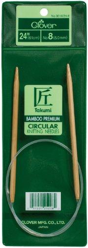 akumi Bamboo Circular 24 inch Knitting Needles, Size 10 ()