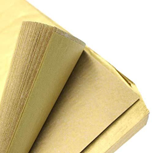 50 Sheets Premium Metallic Gold Tissue Gift Wrap Paper Bulk, 20