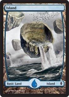 Magic: the Gathering - Island - Full Art (237) - Zendikar - (Mtg Zendikar Foil)