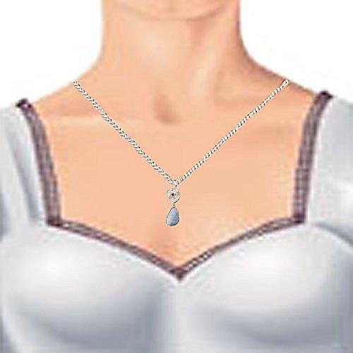 Coffret cadeau en argent sterling 925Cœur Opale véritable et véritable diamant, chaîne, boucles d'oreilles, pendentif-Pierre porte-bonheur Octobre