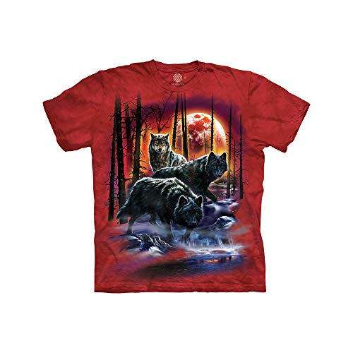 The Mountain Kids' Big MyMountain Fire and Ice Wolves Apparel-Candy Apple Red, Large