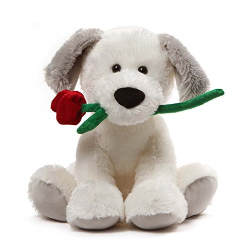 GUND Demarco Valentines Day Stuffed Animal Puppy Dog Plush, White, - Toy Gund Dog White