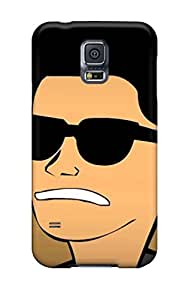 Special Team ProMall Skin Case Cover For Galaxy S5, Popular Bruno Mars Cartoon Phone Case
