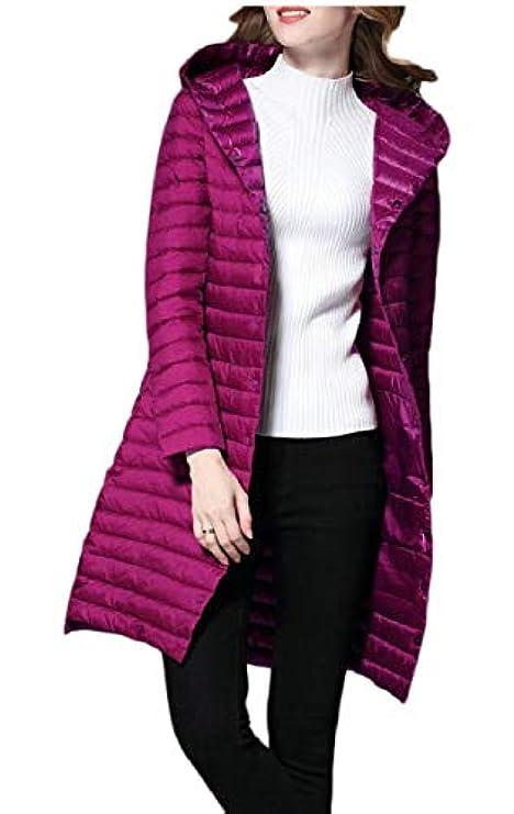 Cappuccio Cappotto Lungo Winter Di Con Outwear Donna Leggero Da Packable Leishop Down qHEHArw