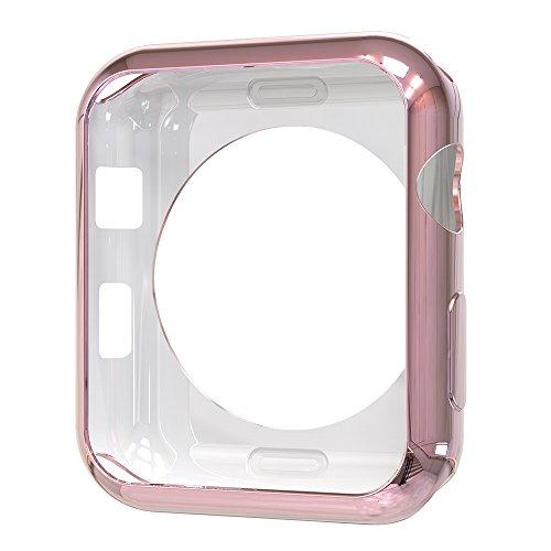 Simpeak Apple Watch Case, Simpeak Slim Scratch Resistant Soft Case for 38mm Apple Watch Series 2 - Rose Gold (1 Pack Case)