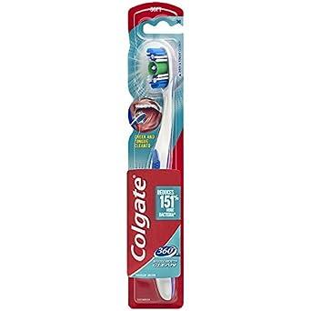Colgate 360 - Cepillo de dientes con limpiador de lengua y mejillas - Suave (1