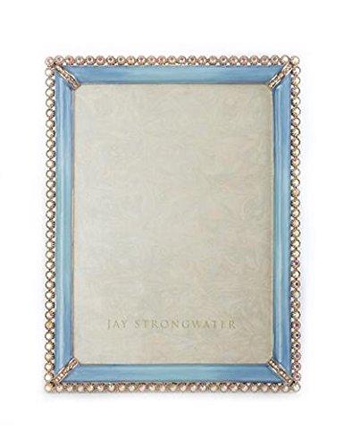 Jay Strongwater esmalte y piedra Edge Marco de 5 x 7 \