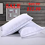 Homelike Moment Down Feather Pillow for Sleeping Feather Bed Pillows King Size Pillow Set of 2