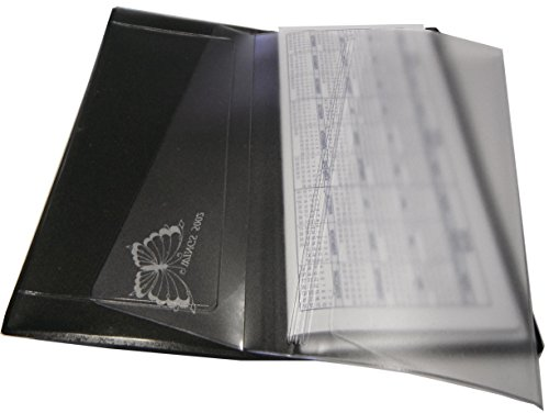 Checkbook Vinyl Protectors/Dividers for Leather & Hand Crafted Covers Set of 2