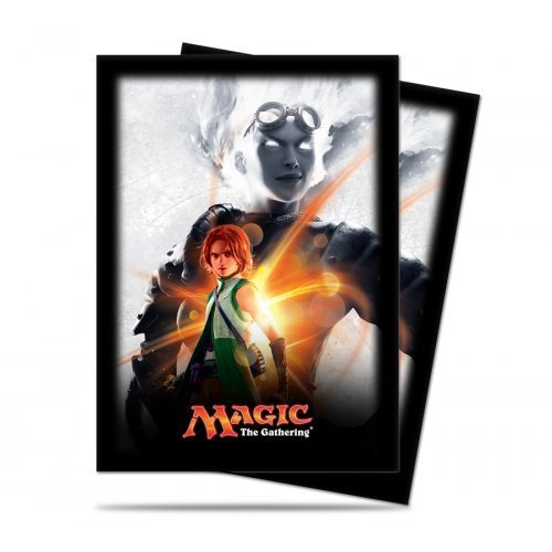 Magic: The Gathering - MTG Magic Origins Planeswalker Chandra Nalaar Card Sleeves (80 Count) Deck Protectors