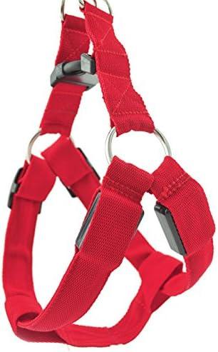 Pinzhi Pet Dog Red Harness leashable Malla Nailon con LED ...