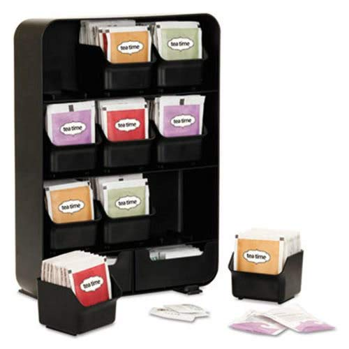 Nine-Drawer Tea Bag and Accessory Holder, Black (2 Units) by EMS