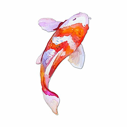 Watercolor Painted Japanese Koi Fish - Full Color Vinyl Decal Sticker for Instant Pot Instapot Pressure Cooker