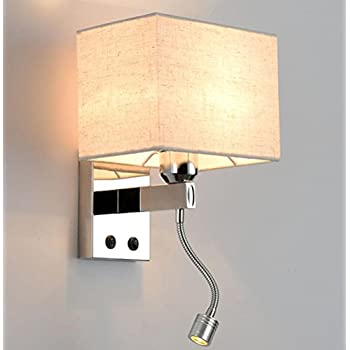 Led Wall Lights Reading Bedside Stainless Steel Wall Lamp