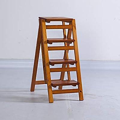 YXWzdy Sillas Plegables Taburete Plegable Escalera Plegable Taburete, Estante de Flor de Madera Maciza Stand-Hogar Hogar Escalera de Madera Multifunción Escalera Interior Ascender sillas de Camping: Amazon.es: Hogar