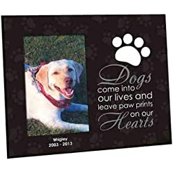 paw prints personalized dog memorial frame 8 x 10 - Dog Memorial Frame