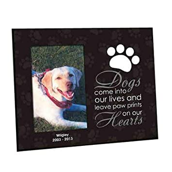 giftsforyounow paw prints personalized dog memorial frame 8 x 10 - Dog Memorial Frame