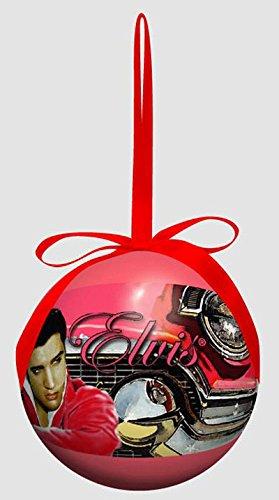 elvis presley christmas ornament pink car ball