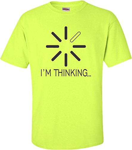 Go All Out XX-Large Safety Green Adult I'm Thinking Funny Computer Nerd Geek ()