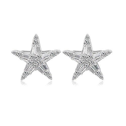 Maerye Inlaid zircon star Earrings female Earrings